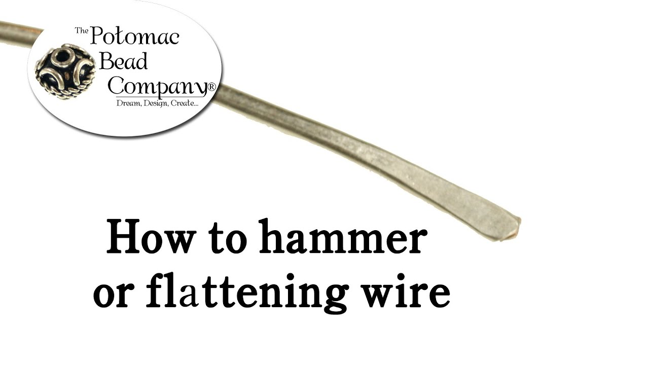 How to Hammer or Flatten Wire - YouTube