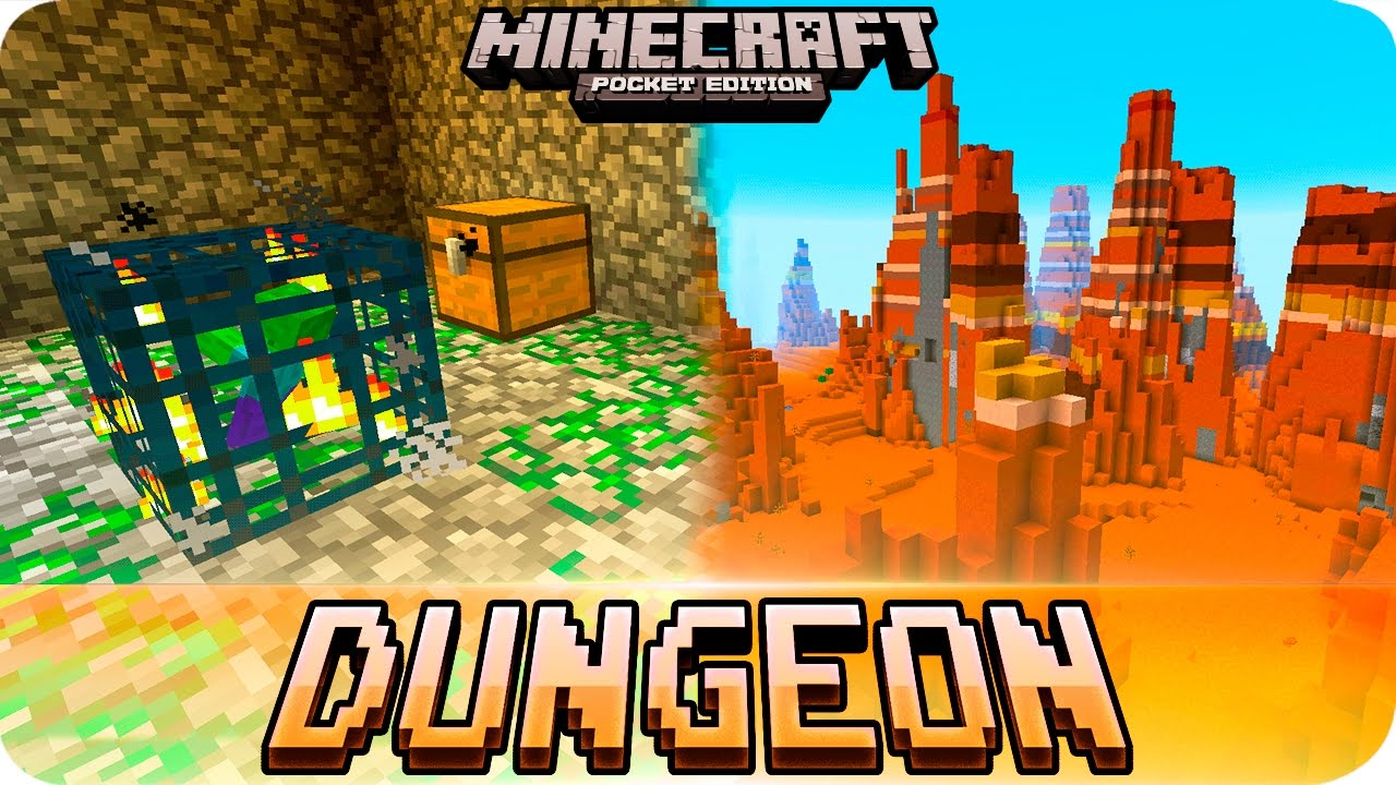 Minecraft PE Seeds - DUNGEON Under Spawn, 1111 Water Temples and Village! MCPE  1111.1111.1111 / 11.1111 / 1111.111.1111