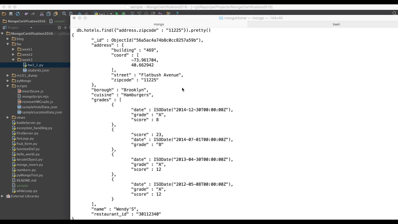 MongoDb Tutorial 10 : How to use find() in embedded document