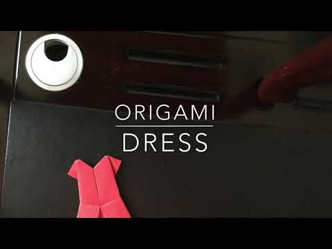 DIY ideas 💡 with paper 📝 part 1: origami dress