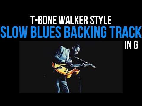 Slow Blues Backing Track in G | T-Bone Walker Style 60 BPM