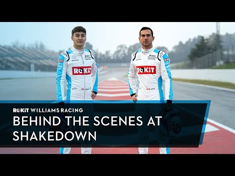 What happens at the 'shakedown' of an F1 car?