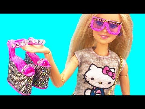 DIY Barbie  Hacks and Crafts : Miniature sunglasses, Unicorn handbag, Stylish shoes