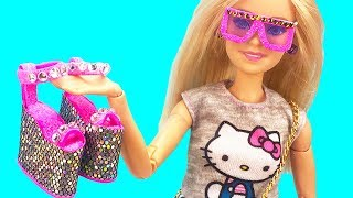 DIY Barbie  Hacks and Crafts : Miniature sunglasses, Unicorn handbag, Stylish shoes