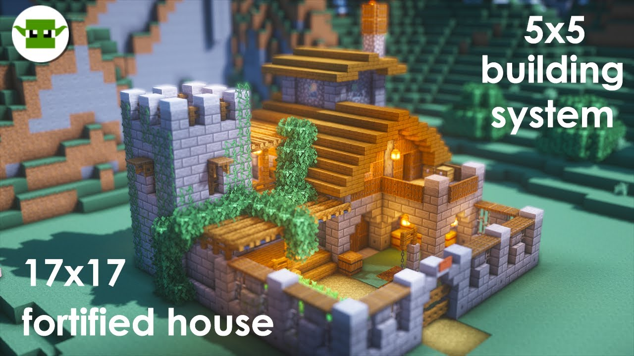 Minecraft   How to Build a Small Fortified House [Easy 5x5 System]