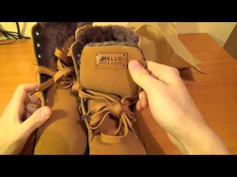 Зимние ботинки с сайта aliexpress за 39$