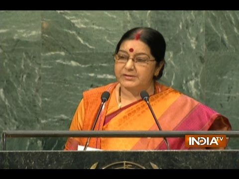 Sushma Swaraj Addresses 71st Session of UN General Assembly In New York