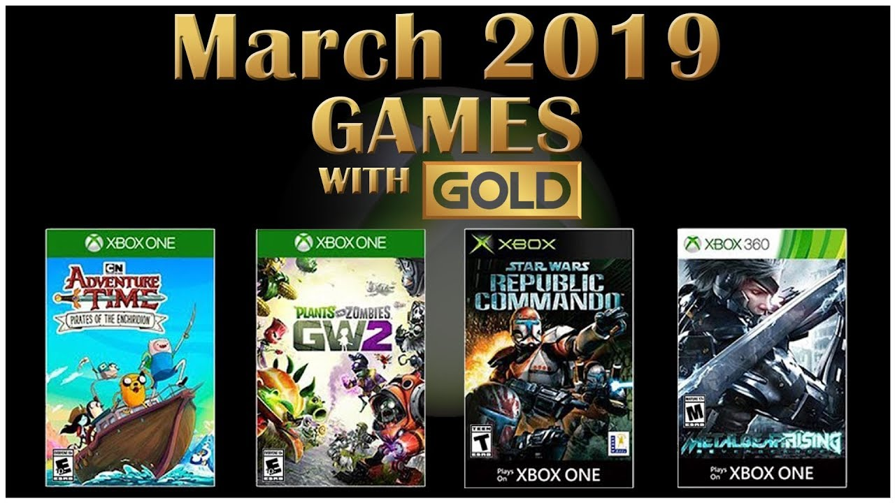 Xbox Live Games With Gold March 2019