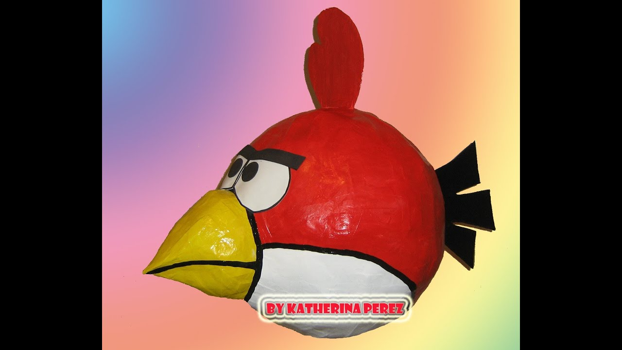 ANGRY BIRD PINATA TUTORIAL REVIEW - YouTube