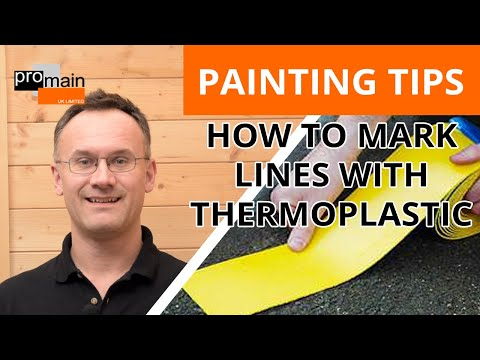 How to Mark Lines using Thermoplastic | Thermoplastic Line Marking Rolls