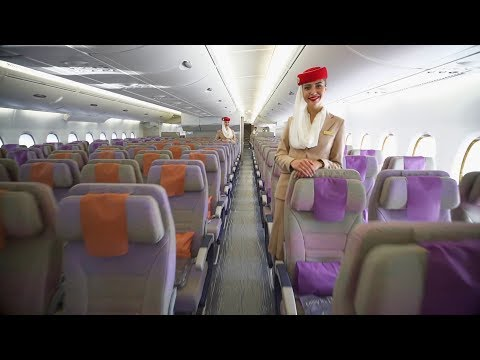 Airbus A380 Cabin Tour | First | Business | Economy | Emirates airline