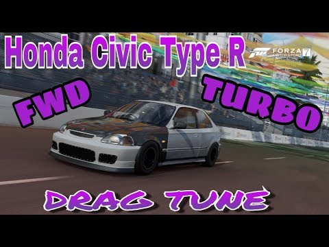 ONLY WAY TO TUNE (FWD) DRAG CARS on Forza Motorsport 7