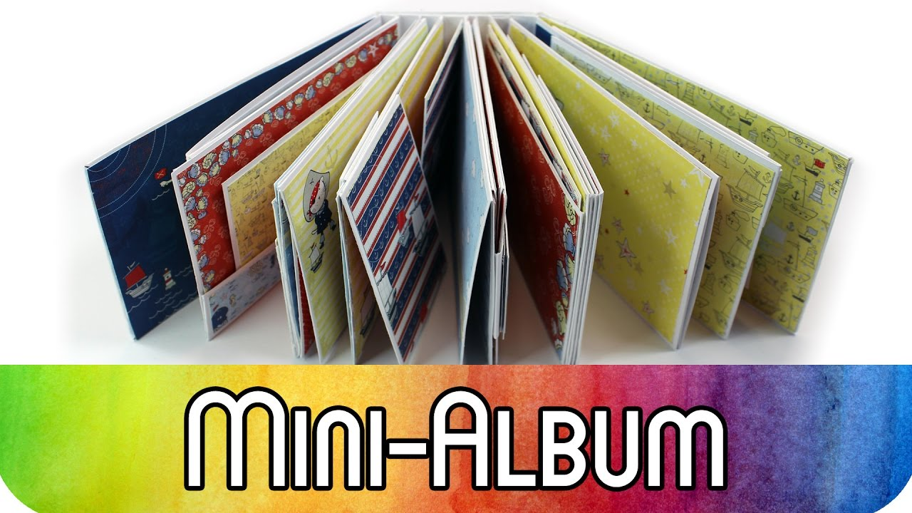 Fotoalbum Selber Machen Pinterest How To Scrapbook Tutorial Mini Album