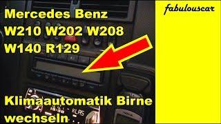 Klimaautomatik Gebläse Beleuchtung Birne wechseln Change climate control | Mercedes Benz W210