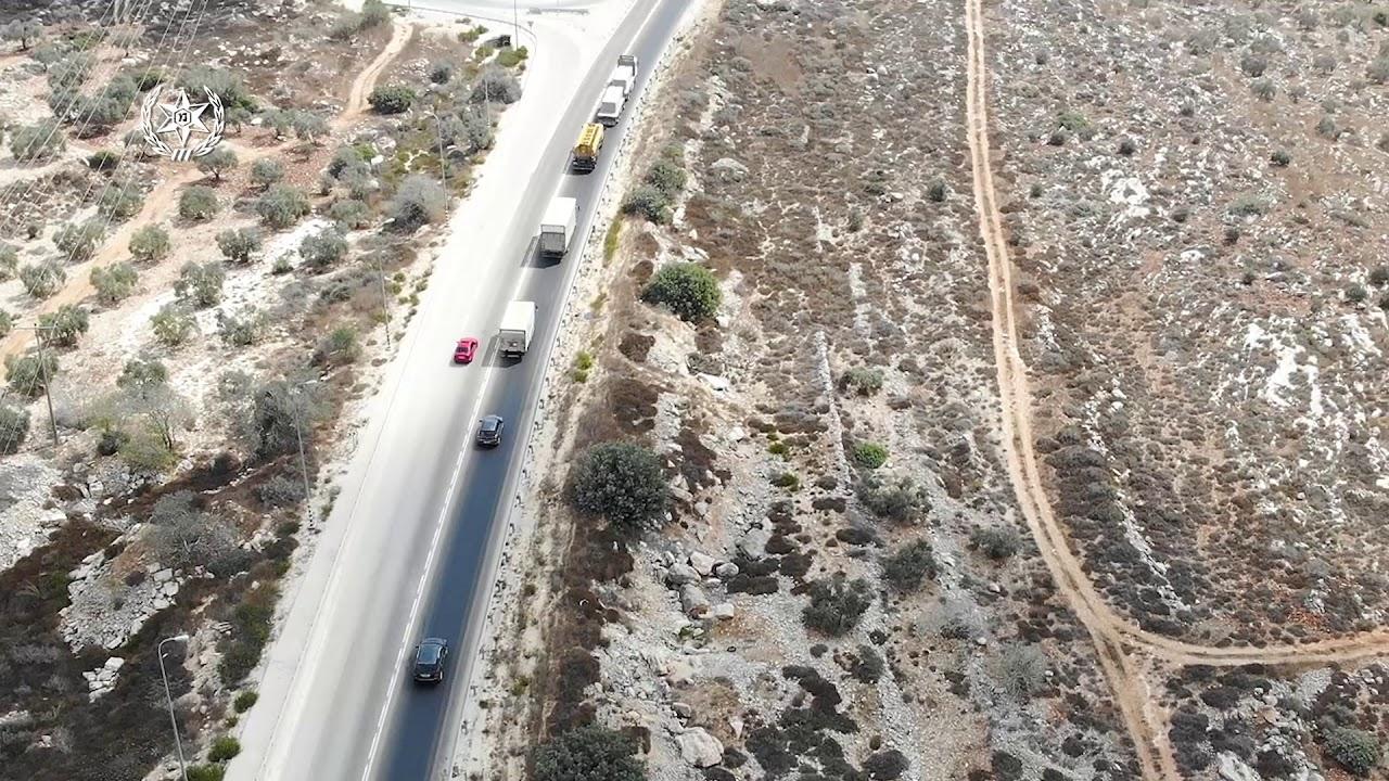 עקיפה מסוכנת כביש 505