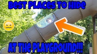 Best Hide and Seek Spots At The Playground! Best Playground For Kids!