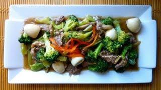 Ulam Pinoy #12 - Beef Mushroom Broccoli (beef Stir Fry)