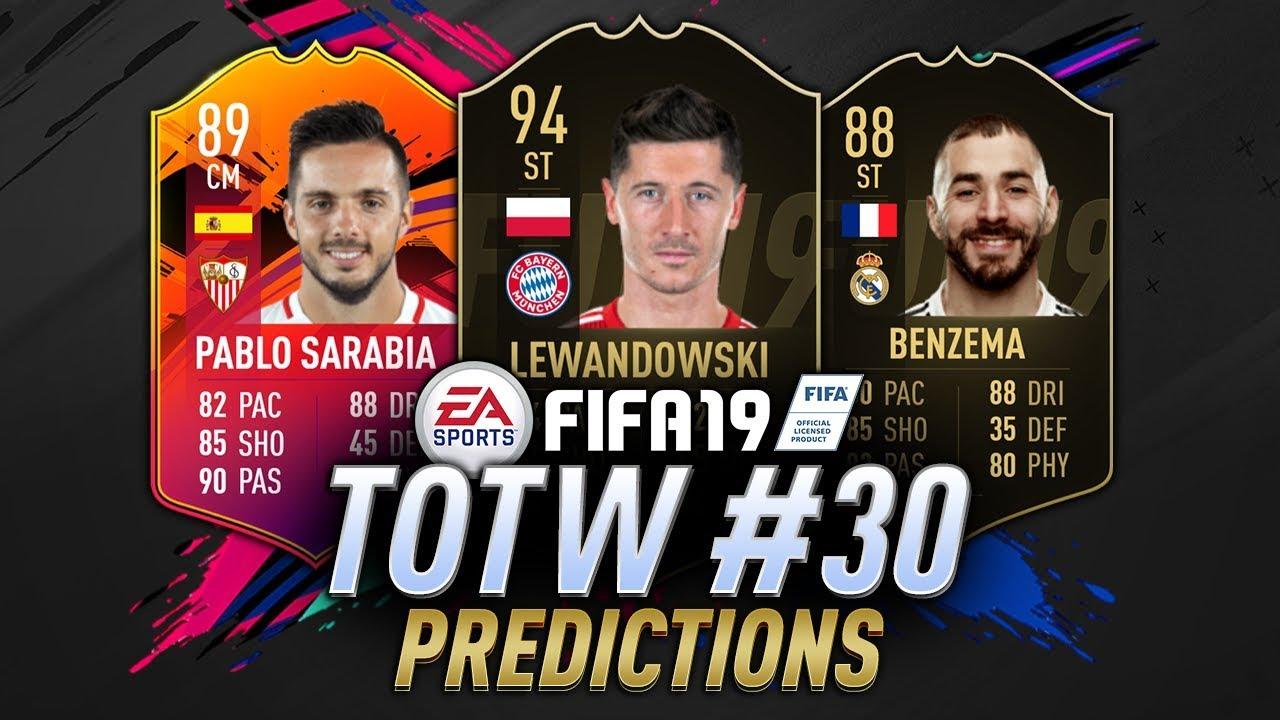 Totw 30 Prediction