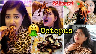 I only ate OCTOPUS for 24 HOURS Challenge! Nilanjana Dhar | India