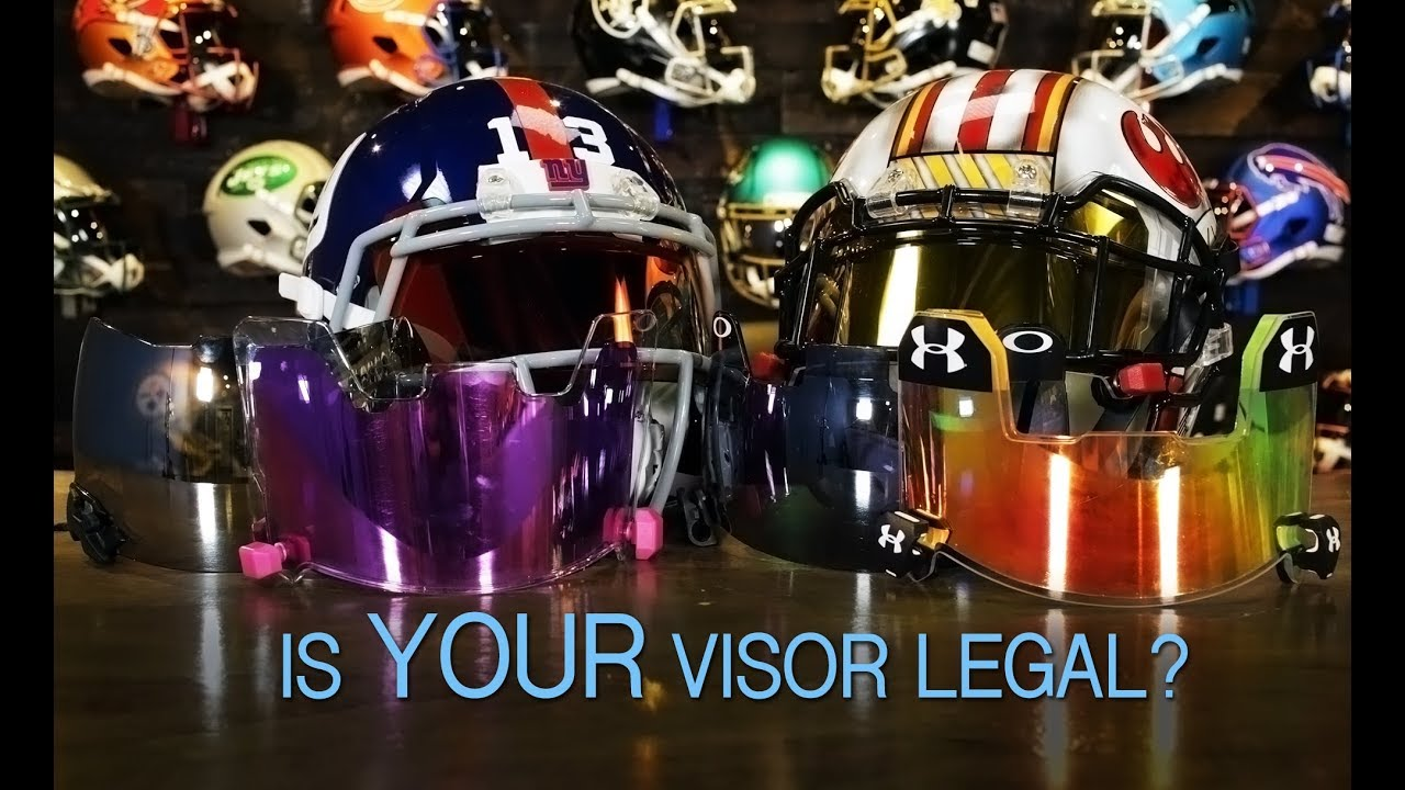 When Are Tinted Visors Legal For Football  - YouTube 282a46386fc