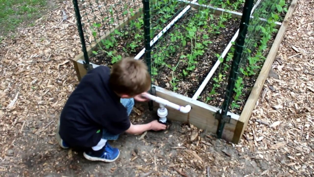 Pvc Irrigation For Raised Bed Gardens Youtube