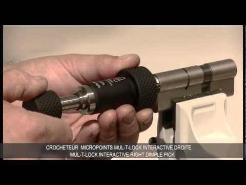 Взлом отмычками Mul-T-Lock   Lock Picking tool for Mul-T-Lock Interactive and classic- Crocheteur Mul-T-Lock Interactive