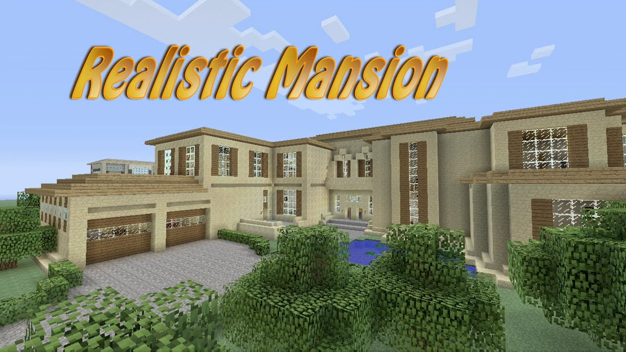 Design Floor Plans Free Minecraft Realistic Mansion Youtube