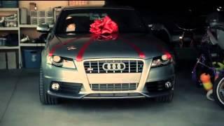 Audi S4 на Рождество. Реакция мужчины на сюрприз