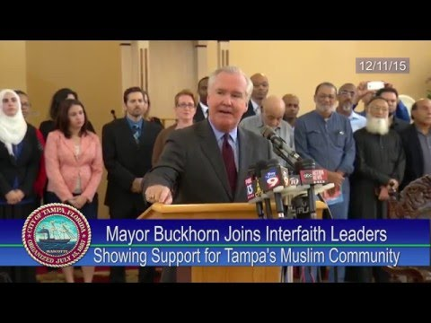 buckhorn muslim Tampa mayor bob buckhorn was criticized for his comments last week  mayor jokes about watching reporters 'cry like little girls' as he pointed machine gun at them  muslim women were .