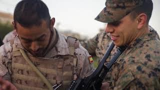 U.S.  Marines train with Spanish Marines from Tercio de Armada
