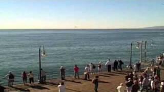 Military Jet Buzzing Santa Monica Pier