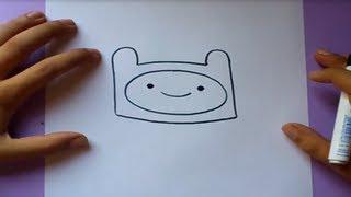 Como dibujar a Finn paso a paso - Hora de aventuras | How to draw Finn - Adventure time