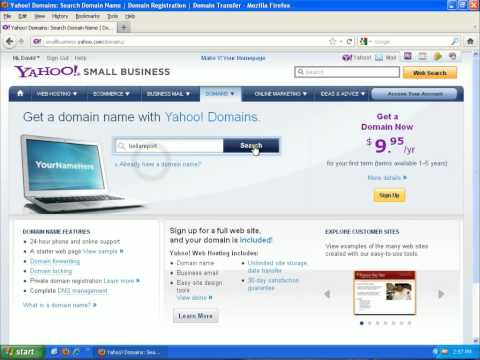 Starting a Business 1 - Register a Domain Name