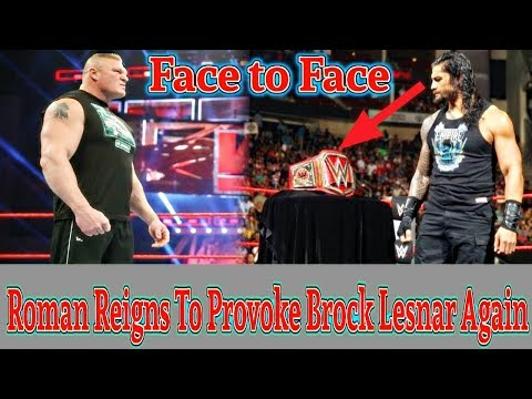 Roman Reigns To Provoke Brock Lesnar Again - Brock Lesnar vs Roman Reigns Face to Face in Raw? YT HD thumbnail