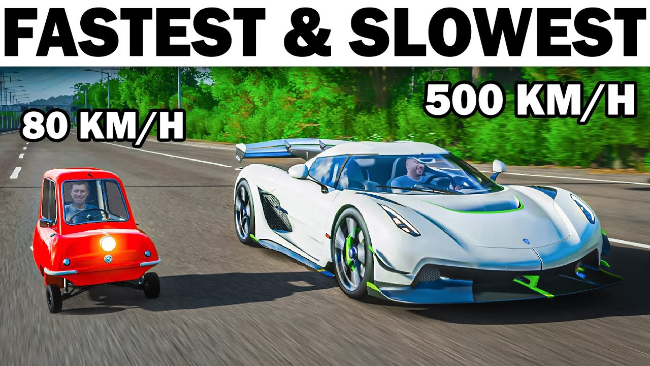 Top 5 Fastest & Slowest Cars In Forza Horizon 4!
