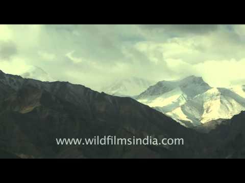 Ladakh  snow covered mountains