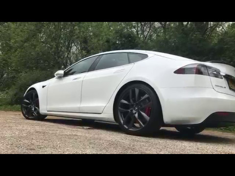 tesla grey arachnid wheels on model s p100dl youtube. Black Bedroom Furniture Sets. Home Design Ideas
