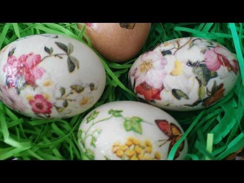 Bakina kuhinja - kako se radi  šaranje jaja dekupažom