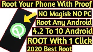 How To ROOT Any Android Phone With 1 Click With Proof 2020 | NO PC NO MAGISK NO KINGROOT | BEST ROOT
