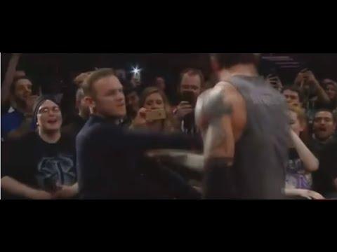 Wayne Rooney Slaps WWE Star Wade Barrett In Manchester(HD)ORIGINAL