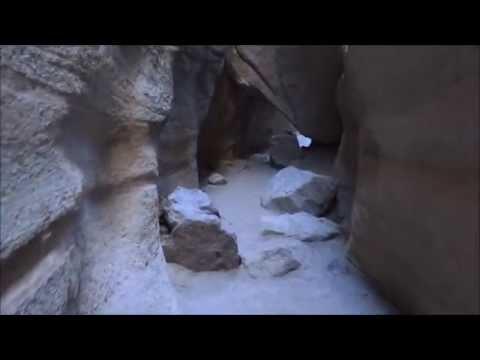A walk through the slot canyon, Kasha-Katuwe Tent Rocks NM, New Mexico