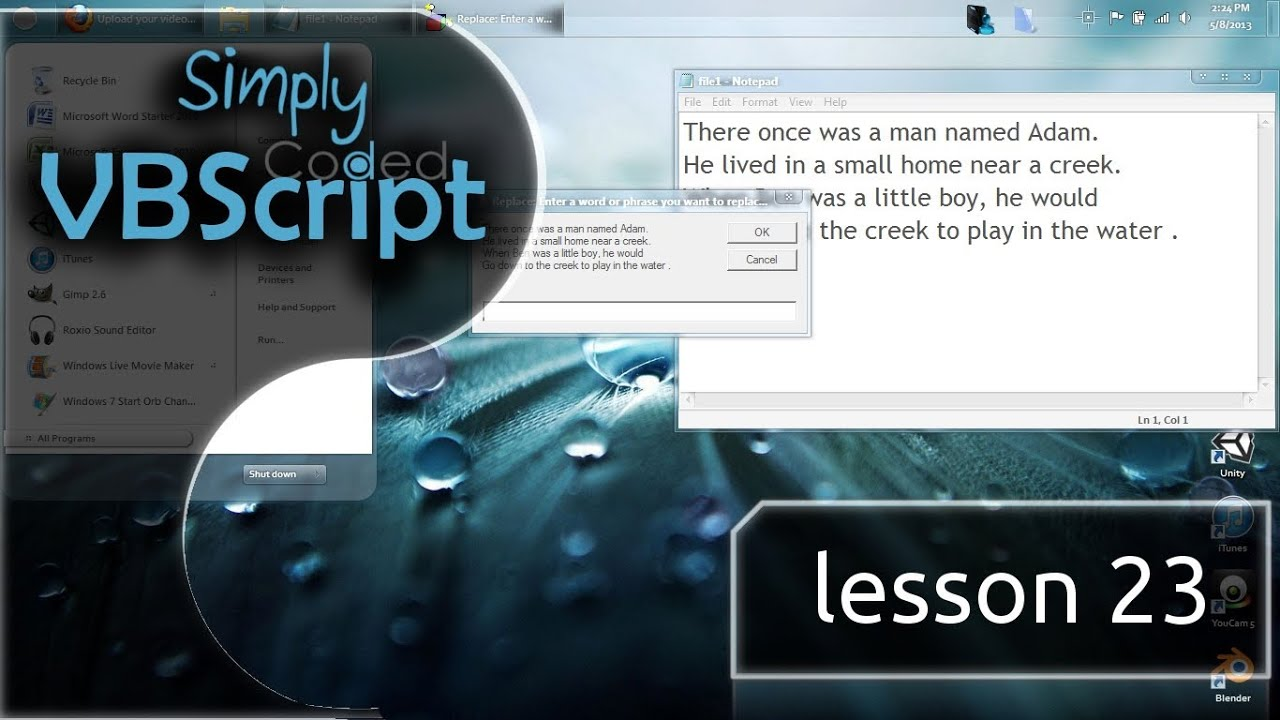 VBScript Basics, Part 23 | Replace Words (Replace Command)