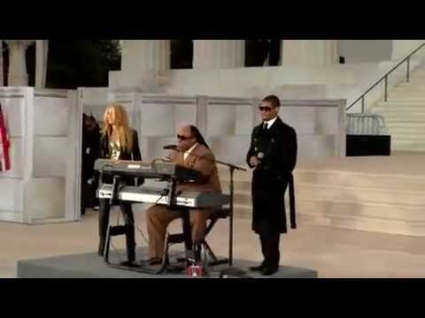 Shakira - Usher - Stevie Wonder - Higher Ground - Obama Inauguration HD