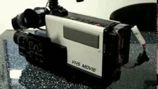 Hitachi Saticon Vhs Tape Moon Vm 200 Camcorder 1984 Similar To Grundig VS 150