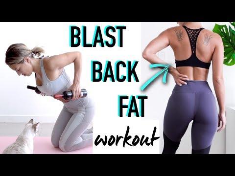 BACK FAT & BRA BULGE Exercises Back WORKOUT by Vicky Justiz