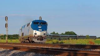 Amtrak 18 West - #3 Southwest Chief - Cameron, Illinois on 6-27-2015