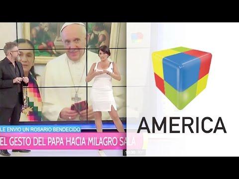 El gesto del Papa que movilizó a Pamela David