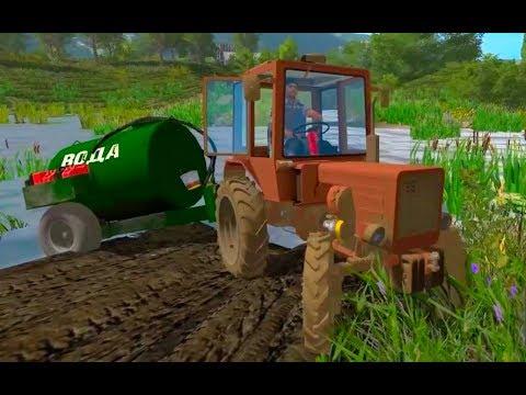 Farming Simulator 2017. COLLEGE IM. Michurin. Tractor Vladimirets T-30. Barrel