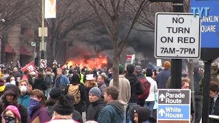 Donald Trump Inaugurated, Limousine Set On Fire