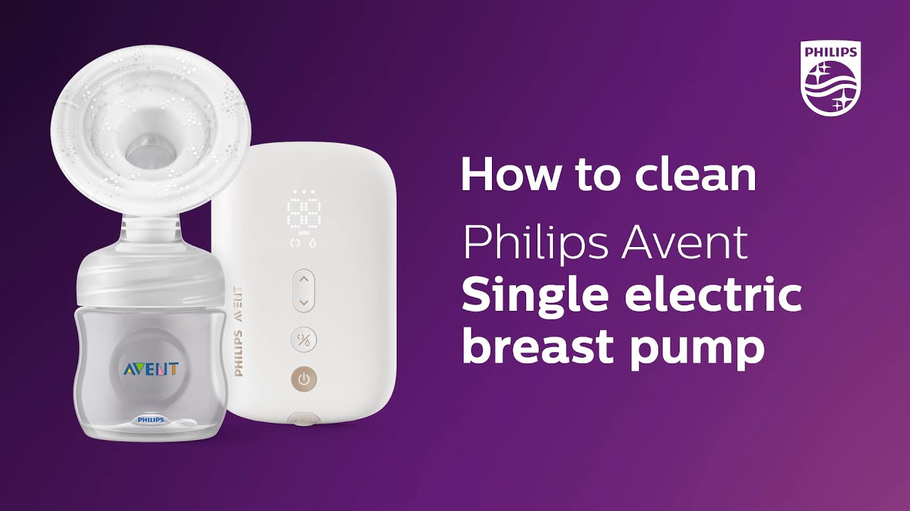 How To Clean Philips Avent Single Electric Breast Pump SCF396/11